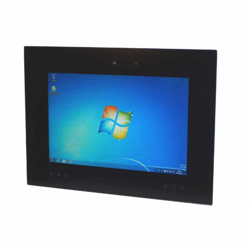 "Touch Panel PC mit Vollglasfront 12,1"" optional MEDIA Ausstattung"