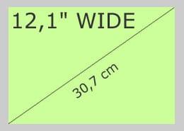"""12,1"""" Wide"""