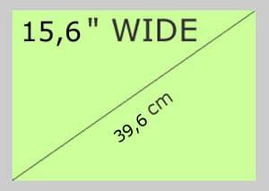 """15,6"""" Wide"""