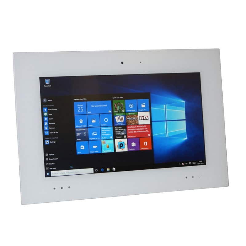 "Touch Panel PC mit Vollglasfront 15,6"" optionale MEDIA Ausstattung"