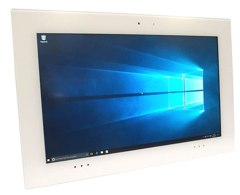 "TouchPanel PC mit Vollglasfront 21,5"" optionale MEDIA Ausstattung"