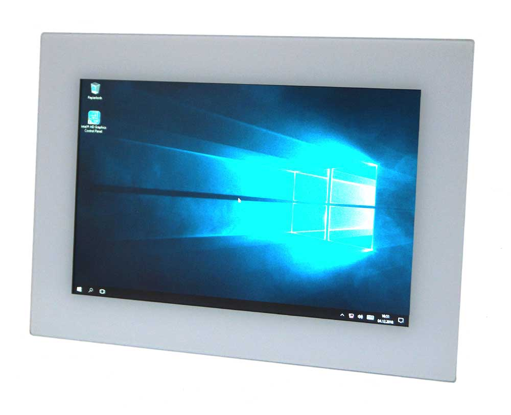 "Touch Panel 10,1"" Frontansicht"