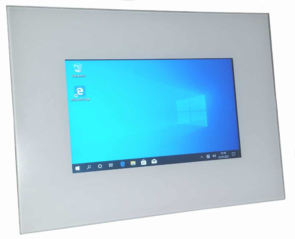 """Touch Panel 7"""" Frontansicht"""